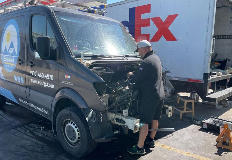 Fleet van repair in Denver